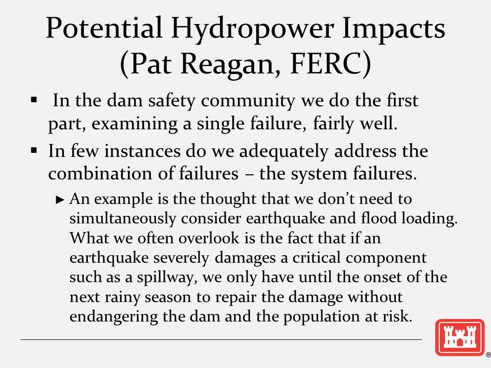 Potential Hydropower Impacts (Pat Reagan, FERC)