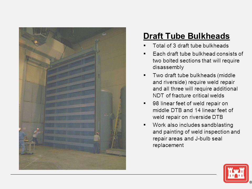 Draft Tube Bulkheads Total of 3 draft tube bulkheads