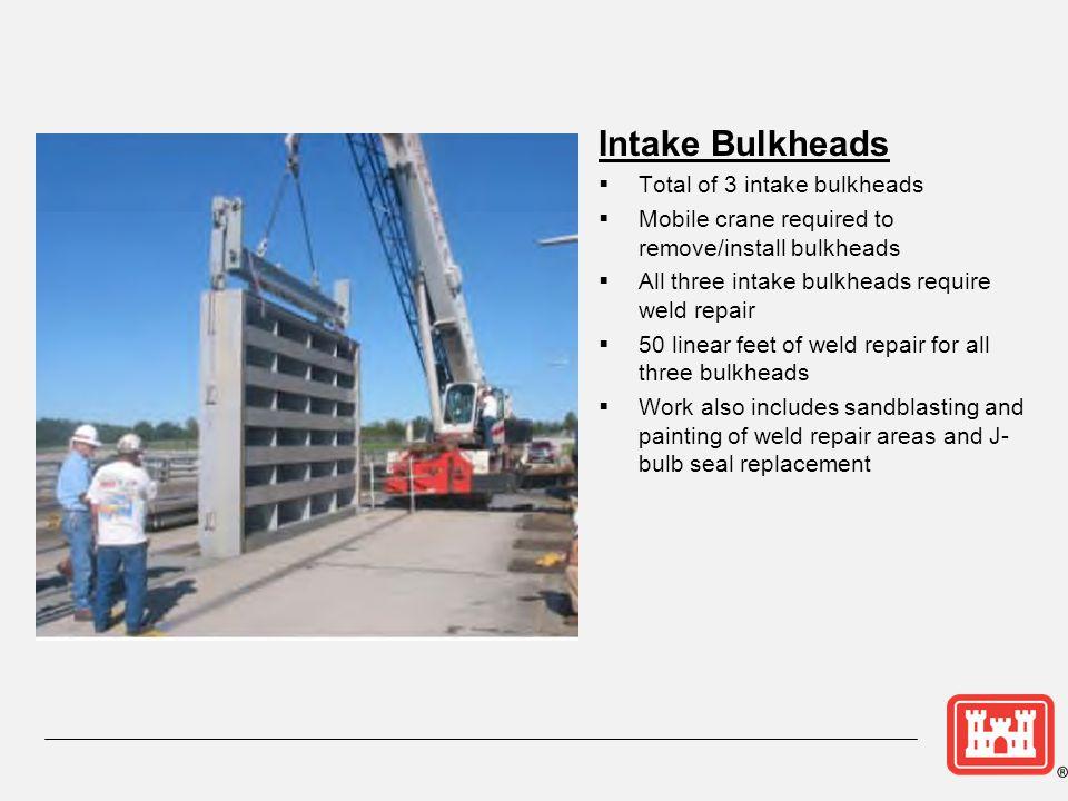 Intake Bulkheads Total of 3 intake bulkheads