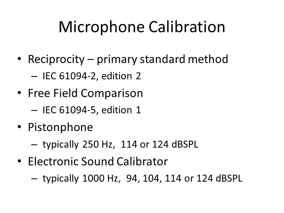 Microphone Calibration