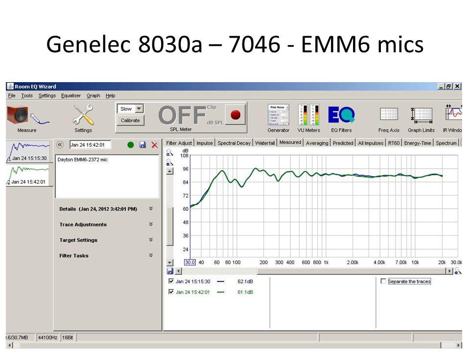 Genelec 8030a – 7046 - EMM6 mics