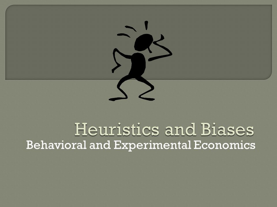 Behavioral and Experimental Economics