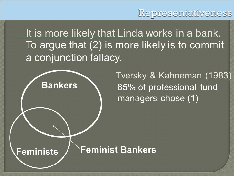 It is more likely that Linda works in a bank.