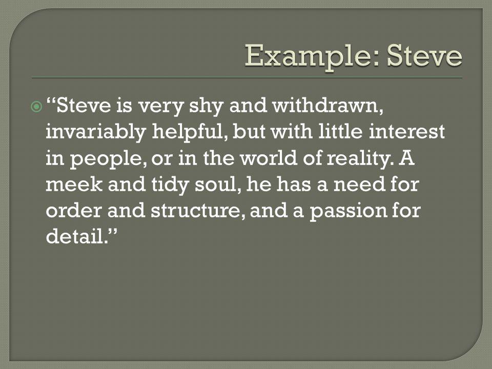 Example: Steve