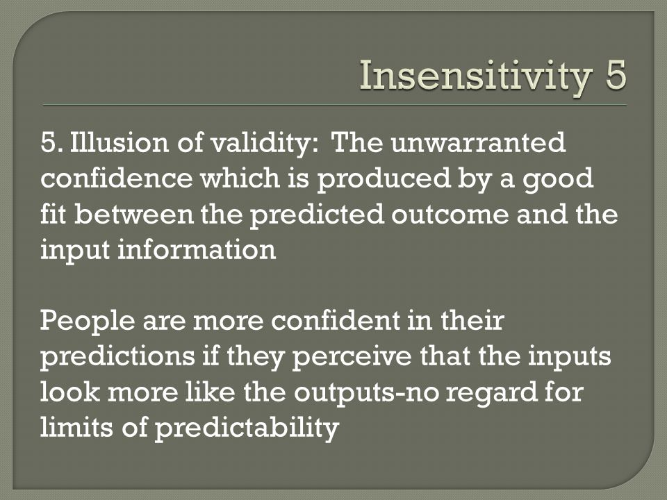 Insensitivity 5