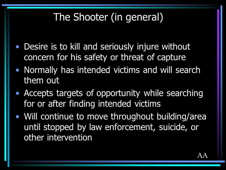 The Shooter (in general)