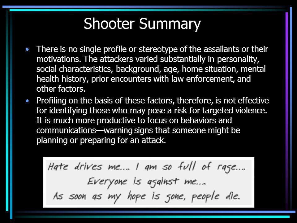 Shooter Summary