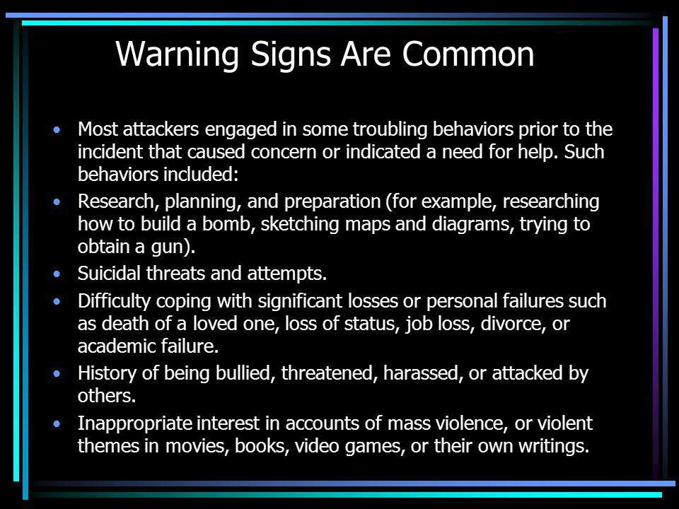 Warning Signs Are Common