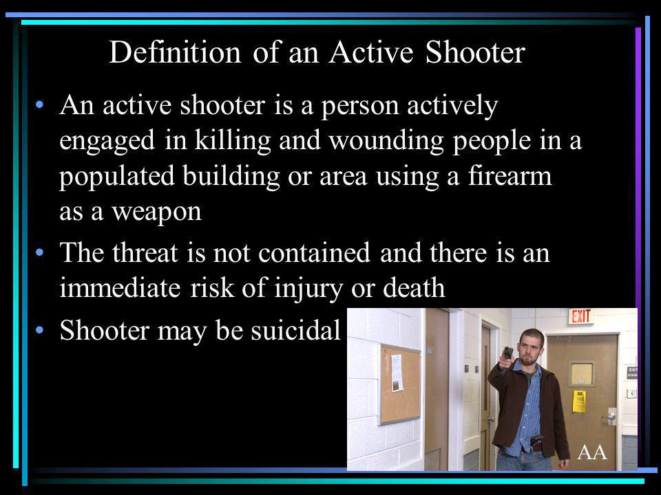Definition of an Active Shooter