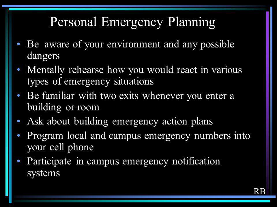 Personal Emergency Planning