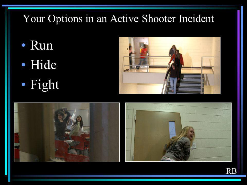 Your Options in an Active Shooter Incident