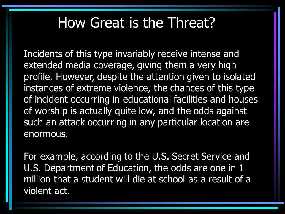 How Great is the Threat