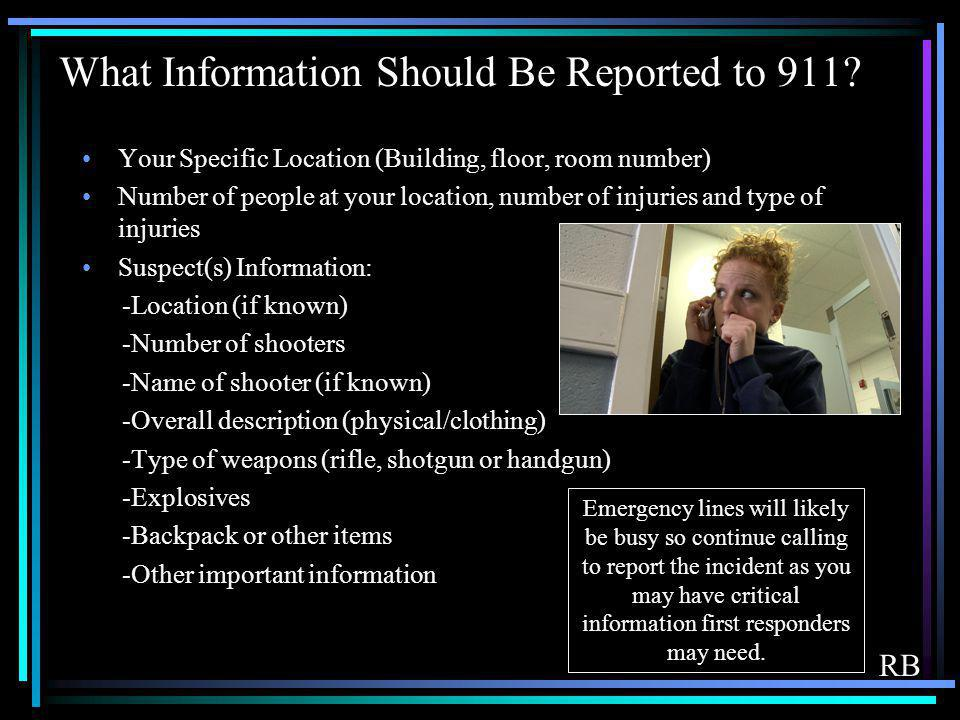 What Information Should Be Reported to 911