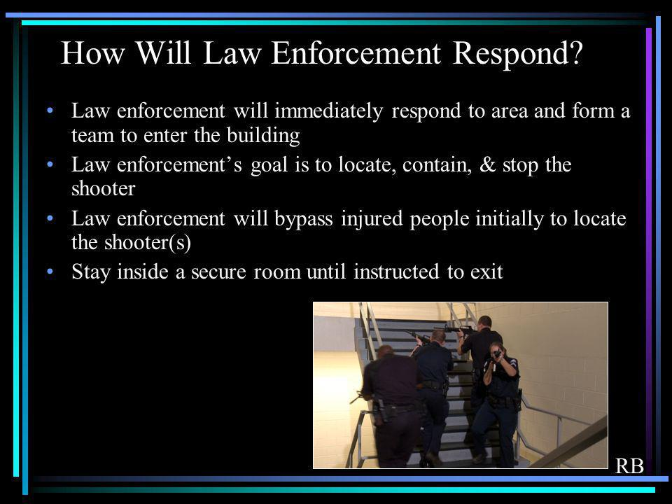 How Will Law Enforcement Respond
