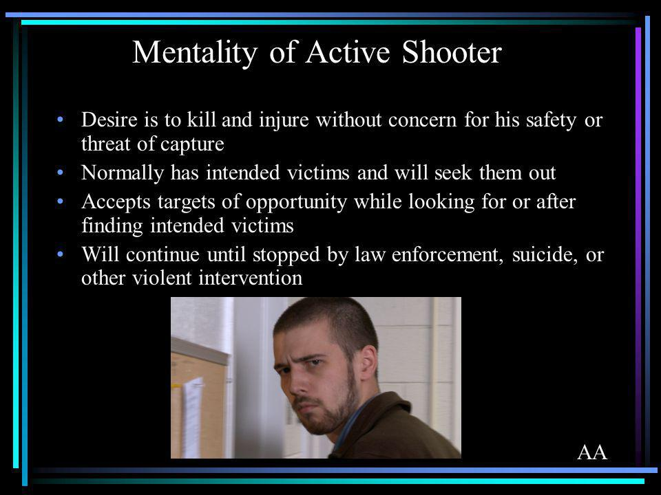 Mentality of Active Shooter