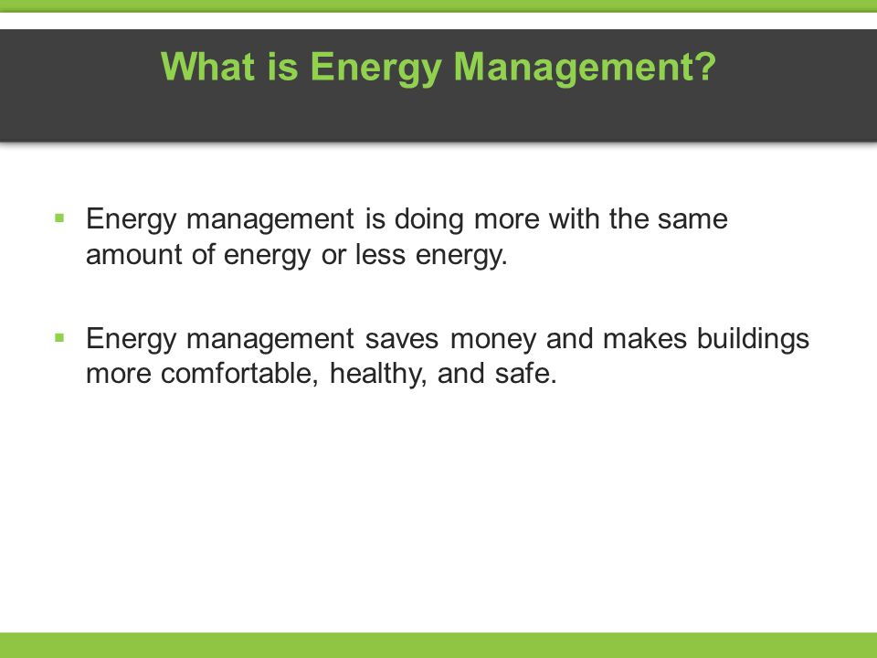What is Energy Management