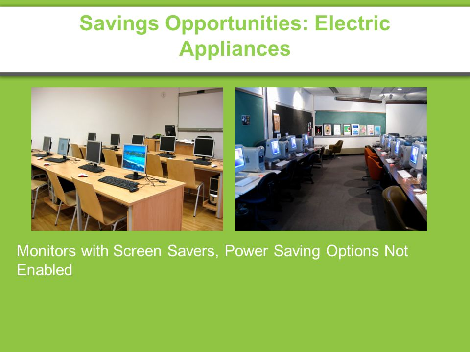 Savings Opportunities: Electric Appliances