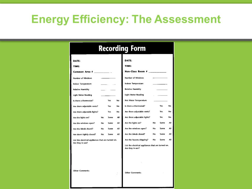 Energy Efficiency: The Assessment