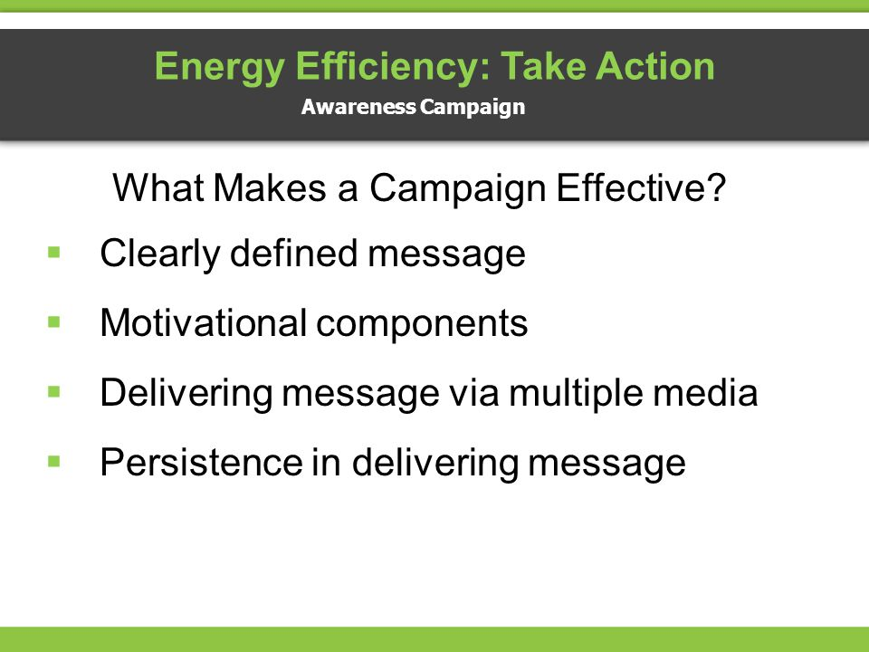 Energy Efficiency: Take Action