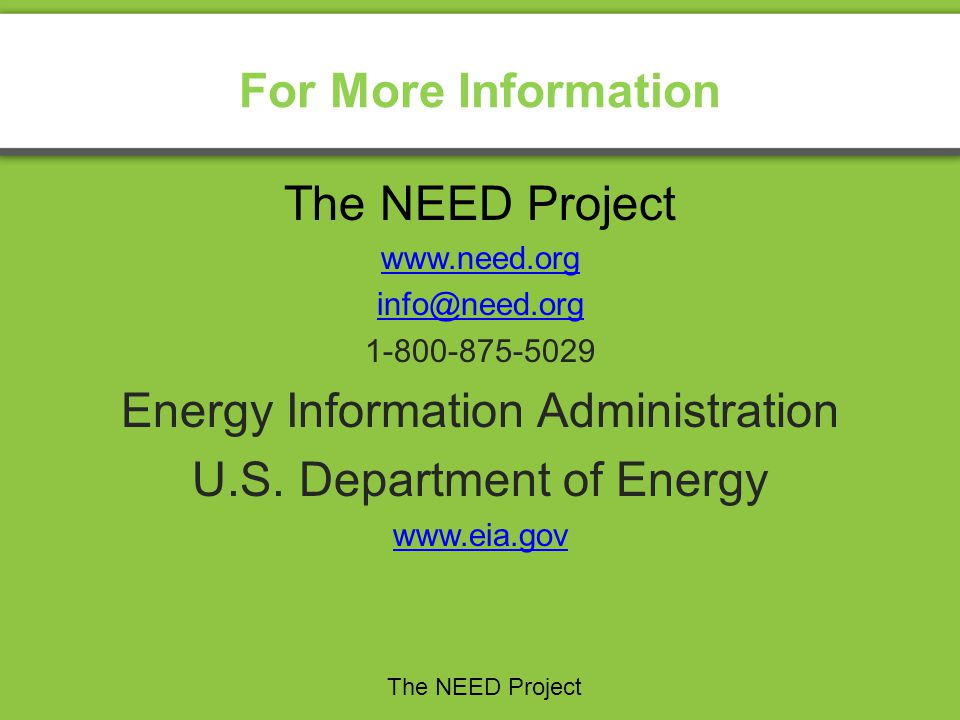 Energy Information Administration U.S. Department of Energy