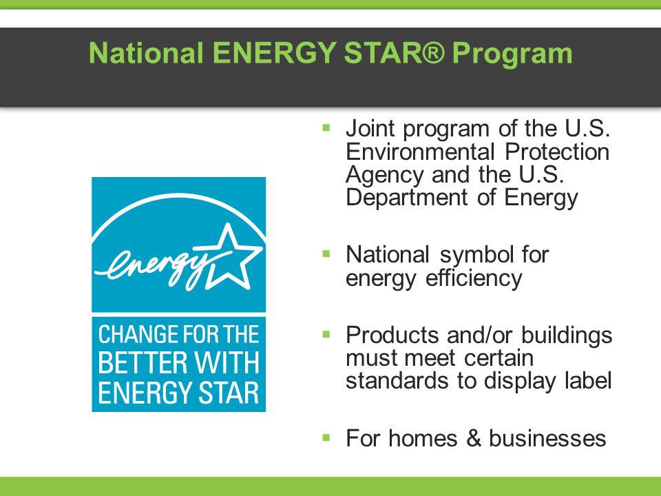 National ENERGY STAR® Program