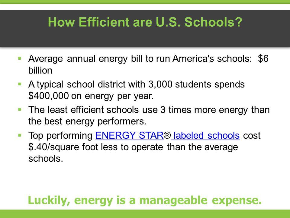 How Efficient are U.S. Schools