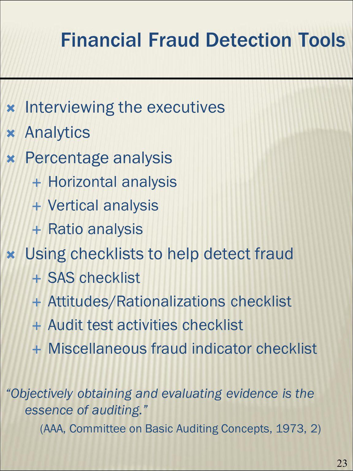 Financial Fraud Detection Tools