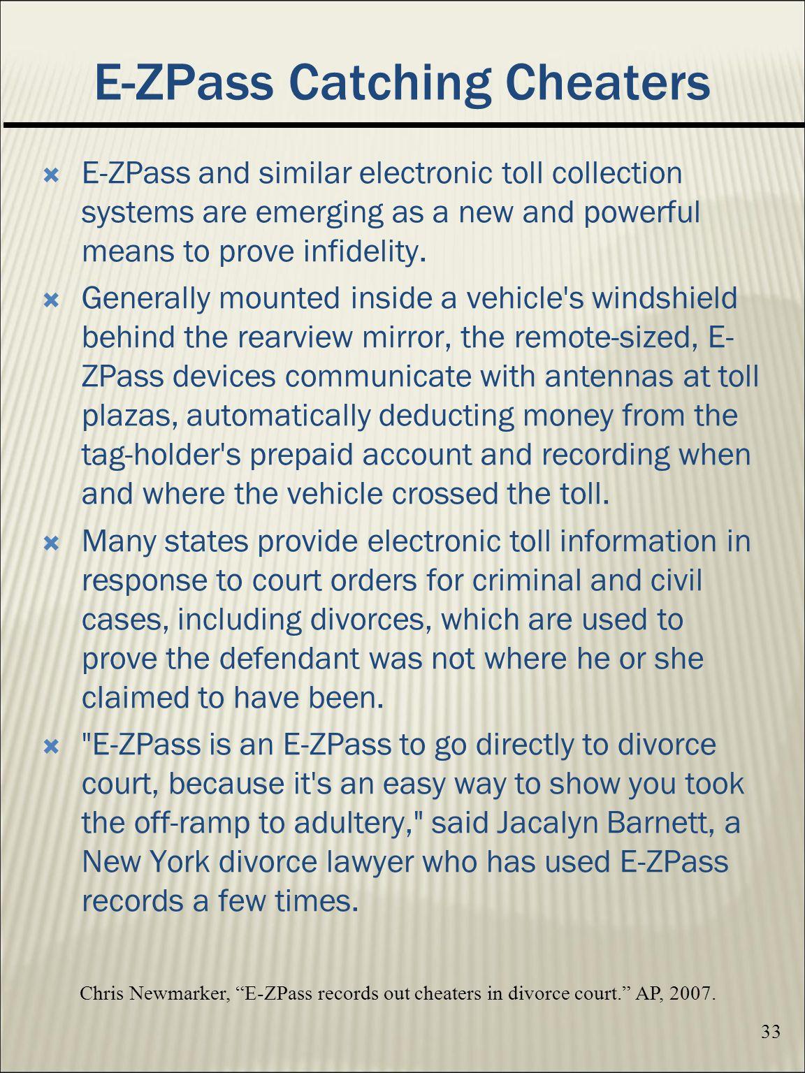 E-ZPass Catching Cheaters