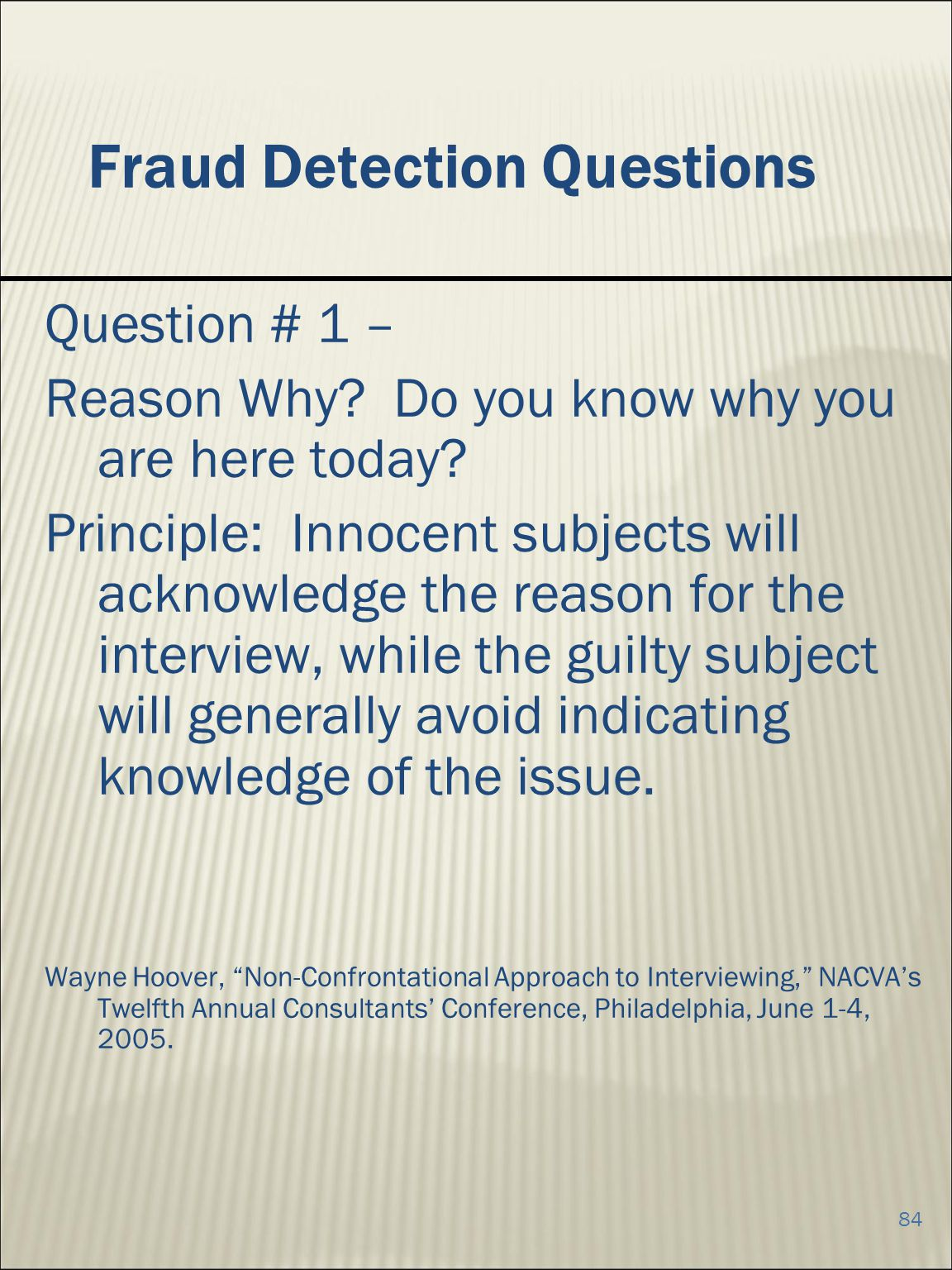 Fraud Detection Questions
