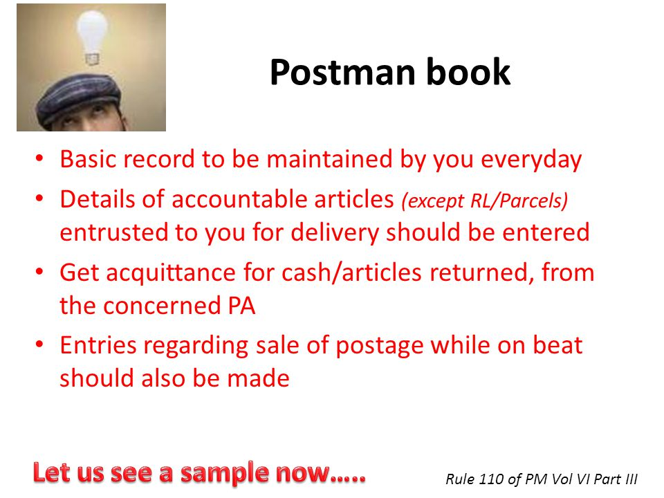 Postman book Let us see a sample now…..