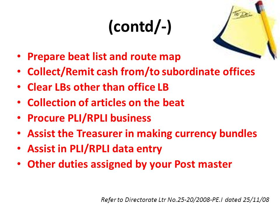(contd/-) Prepare beat list and route map