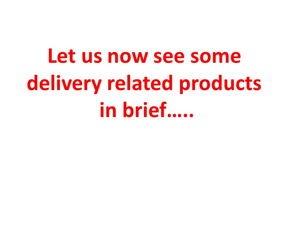 delivery related products