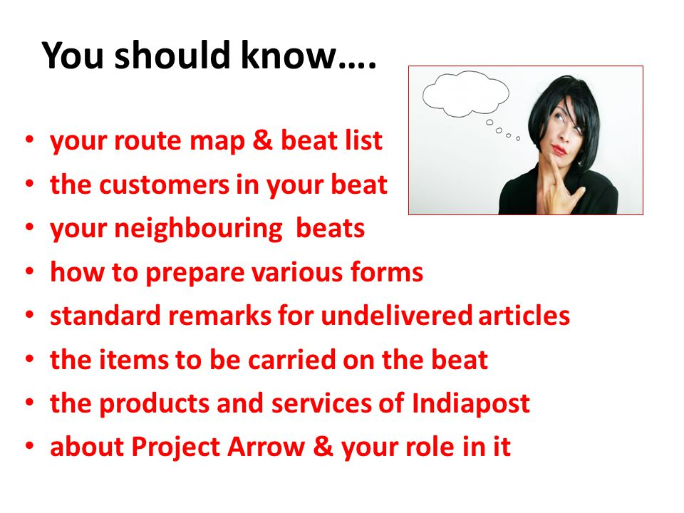 You should know…. your route map & beat list