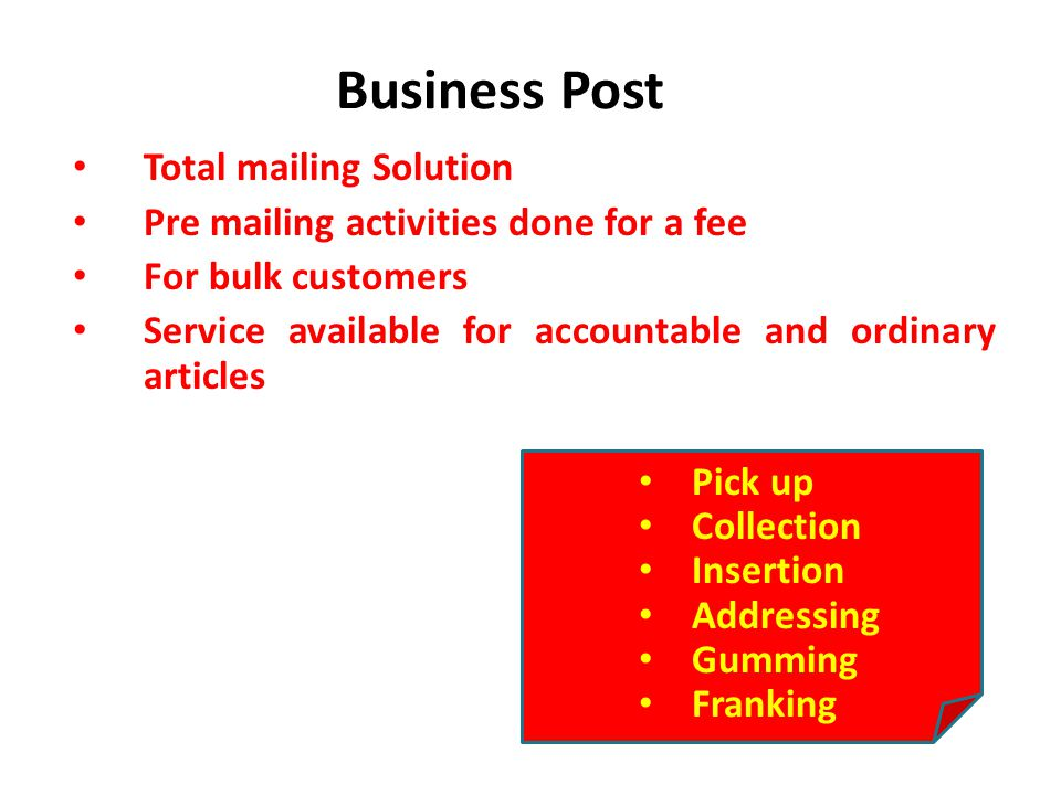 Business Post Total mailing Solution