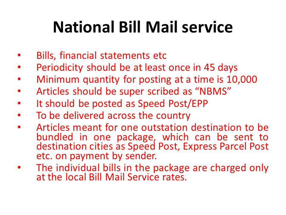 National Bill Mail service
