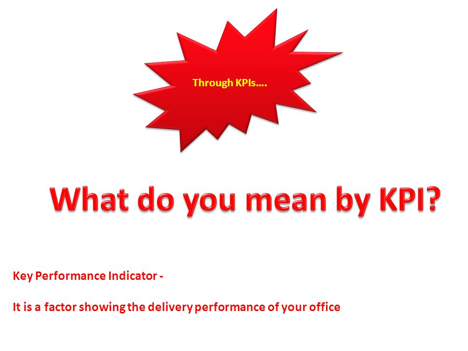 What do you mean by KPI Key Performance Indicator -