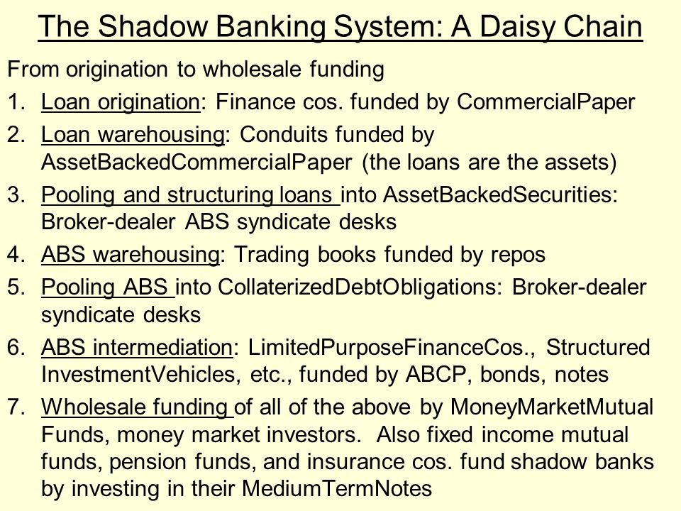 The Shadow Banking System: A Daisy Chain