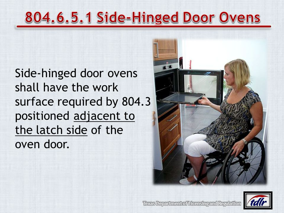 804.6.5.1 Side-Hinged Door Ovens