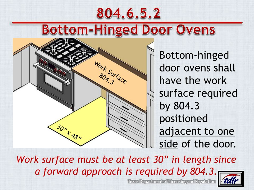 Bottom-Hinged Door Ovens