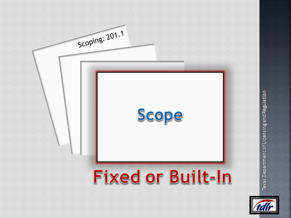 Scoping: 201.1 Scope Fixed or Built-In