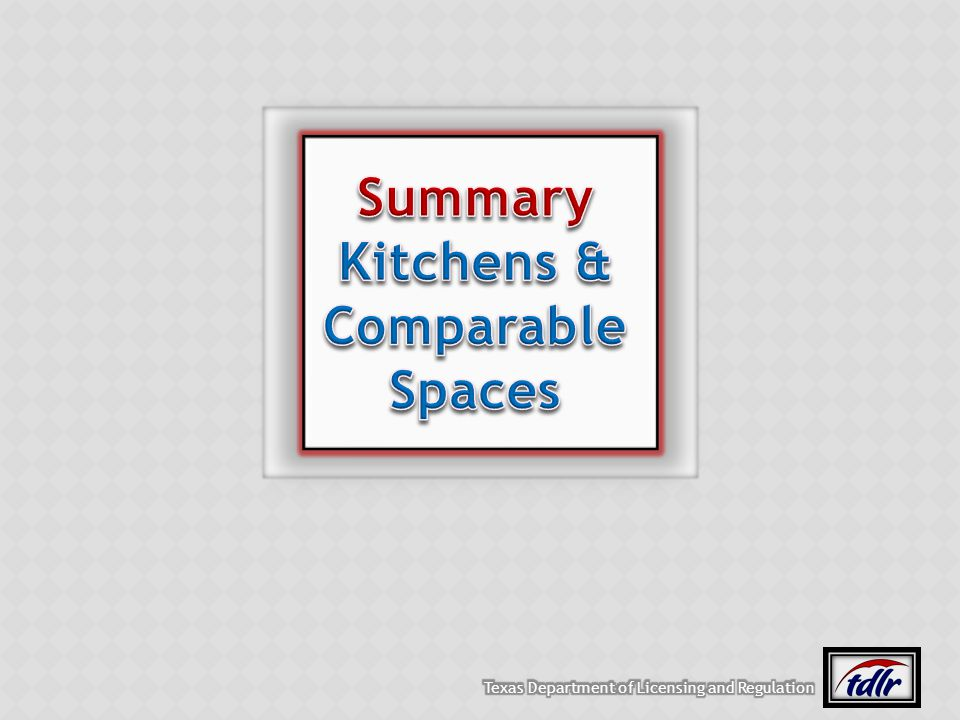 Summary Kitchens & Comparable Spaces