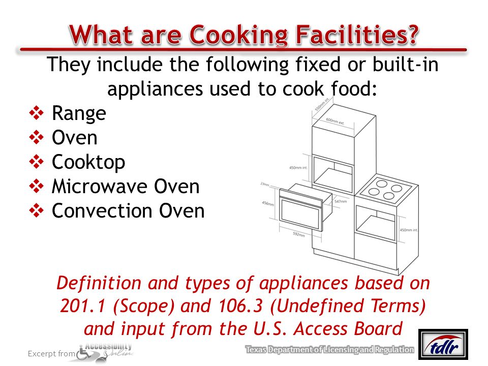 What are Cooking Facilities