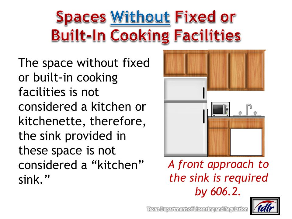 Spaces Without Fixed or Built-In Cooking Facilities