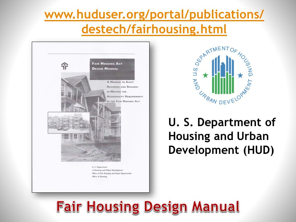 Fair Housing Design Manual
