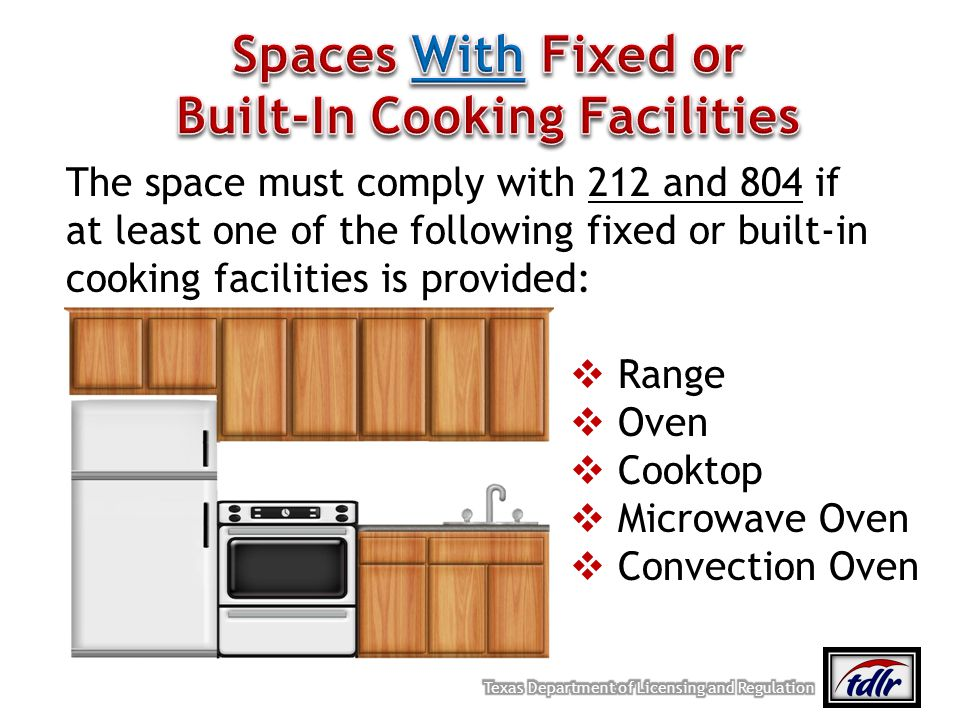Built-In Cooking Facilities