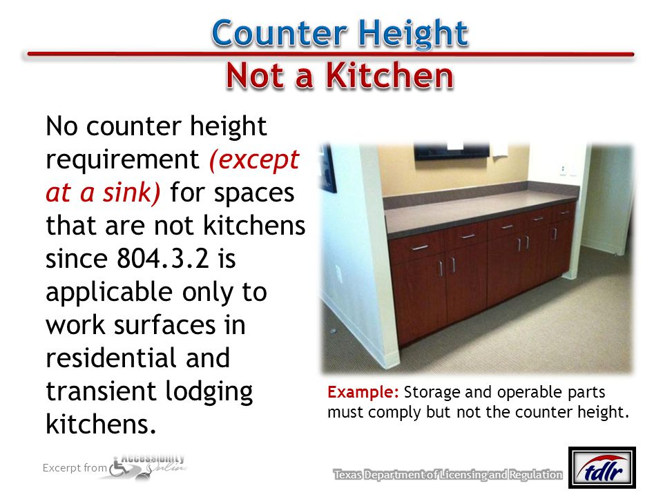 Counter Height Not a Kitchen