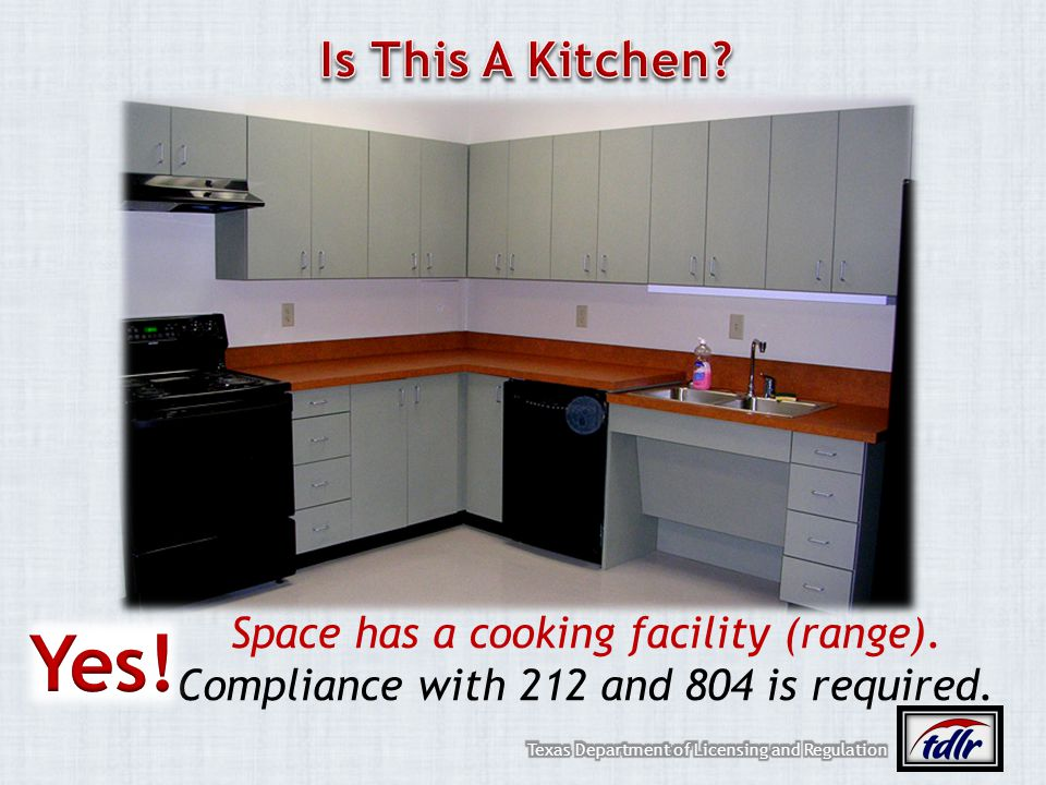Yes! Is This A Kitchen Space has a cooking facility (range).