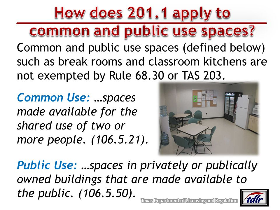 common and public use spaces