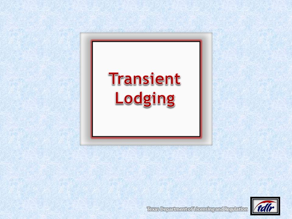 Transient Lodging