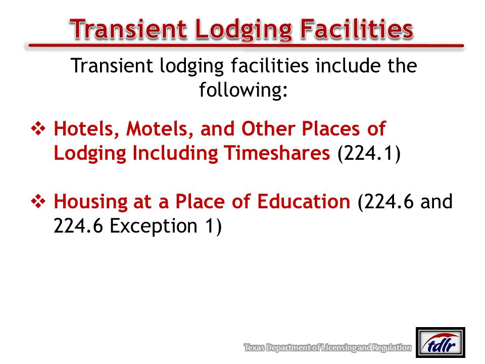 Transient Lodging Facilities